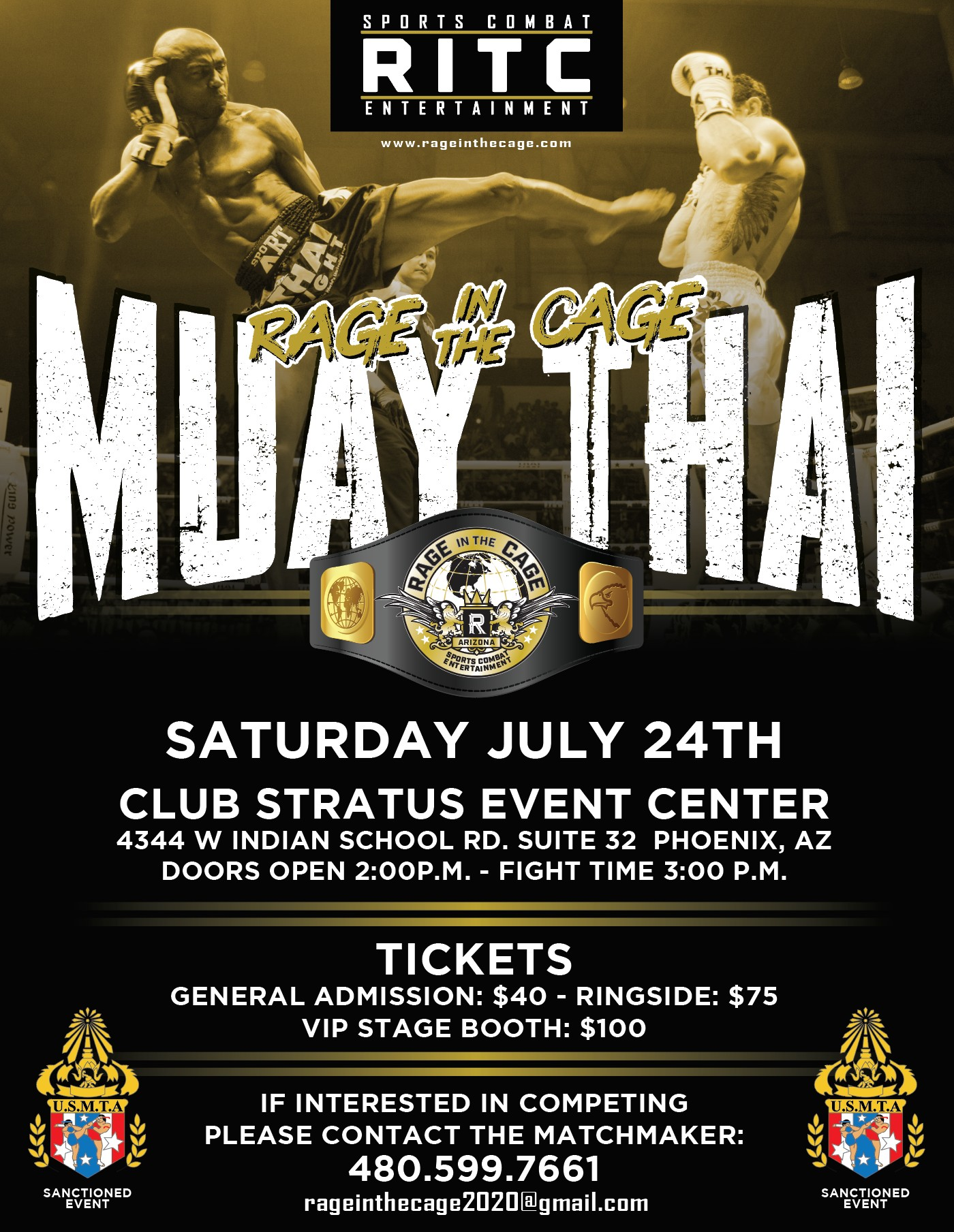 Rage In The Cage Muay Thai